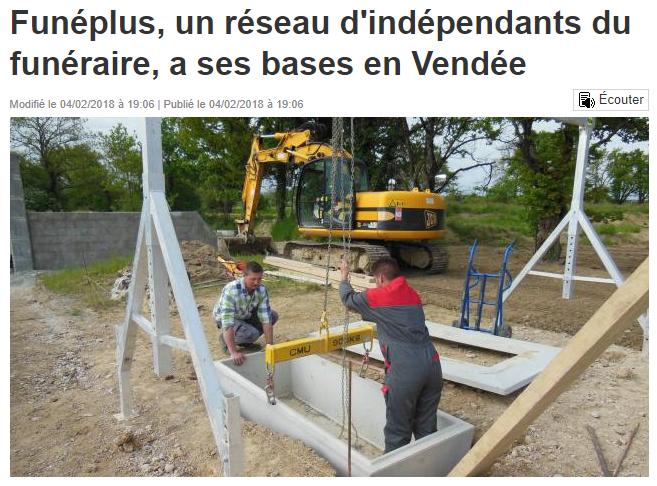 Funéplus Ecole de Funétique dans Ouest France La Roche sur Yon